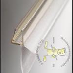 """#1003 waagrechtes Wasserablaufprofil mit verlängerten Dichtkeder(31mm), passend für6+8mm Glasstärke, transparen, Länge 1 Mer, """"DER PROBLEMLÖSER"""""""