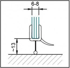 Nr.1258 Dichtleiste für gebogene Glasscheiben passend für 6+8mm Glas