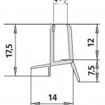 #1269/2 Wasserablaufprofil für 4-5mm Glas, 1 Meter
